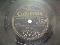"BING CROSBY DB 50010 ENGLAND RARE 78 RPM RECORD 10"" VG+"