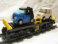 Lego Train City Yellow Cargo Train Car Flatbed Mint 7939/60052/60098/3677