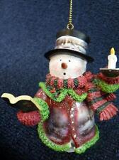 Thomas Kinkade Winter Wonderland Holiday Lights Snowman Ornament NEW (o2077)