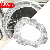100PCS Car Disposable Plastic Steering Wheel Cover Waterproof Universal Cover