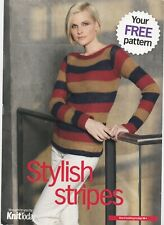 Long Sleeve Stripe Sweater DK Knitting Pattern SMC Select Knit Today DK 32-40""