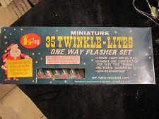 Vintage Christmas 35 Miniature Twinkle Lites String Lights Blow Mold. King