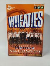 2003-2004 Detroit Pistons NBA Champions Autographed Wheaties Cereal Box Wallace