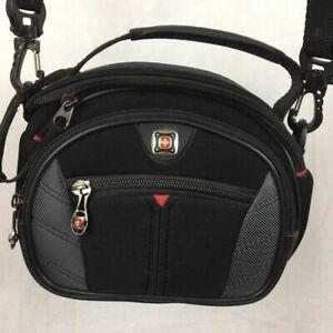 Swiss Army Gear The Sherpa Camera Case Black Padded 3 Pocket Strap Bag GA-7838