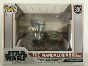 Funko Pop Disney Star Wars The Mandalorian With Child Television Moments #390