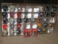 All 32 NFL Teams Mini Riddell Pocket Chrome Helmets With 40 Space Display Case