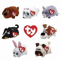 Set of 7 Ty Teeny Tys Secret Life Pets Gidget Snowball Mel Buddy Max Chloe Duke