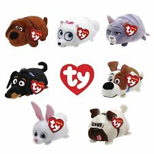 Set of 7 Ty Teeny Tys The Secret Life of Pets New w/ Heart Tags MWMT's Stackable