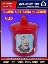 LUMINO LUME  VOTIVO ROSSO LED A BATTERIA CANDELA CIMITERO PADRE PIO