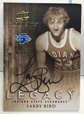 Larry Bird 2011-12 UD Exquisite Legacy on-card Auto #'d 7/15 - BOSTON CELTICS