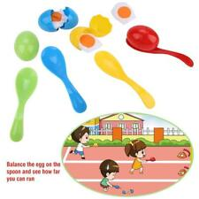 Sports Day Kit Sack Egg Balance Spoon Race Set Fun Outdoor Garden Family Game❤HP