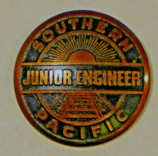 Vintage Junior Engineer Southern Pacific Railroad enamel pin / Button