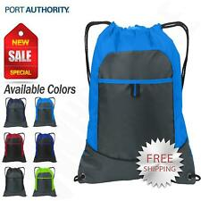 Port Authority Pocket Cinch Pack Drawstring Sport Gym Bag BG611