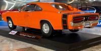 Official 1969 Dodge Charger R/T Orange Maisto 1:18 Scale Diecast Model Car New