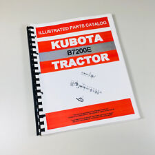 KUBOTA B7200E TRACTOR PARTS ASSEMBLY MANUAL CATALOG EXPLODED VIEWS NUMBERS