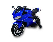 Moto  Elettrica per Bambini  MOTO STRADALE 12V sedile in pelle BLU