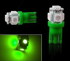 5X Green T10 W5W Interior 5SMD LED Car Auto Light bulbs 2825 158 192 168 194