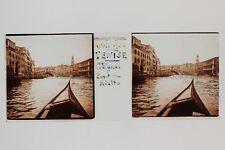 Venise Venezia Italie Italia Plaque N1 verre stereo Vintage 1938