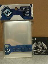 63.5mm x 88mm Standard CLEAR Card Game Sleeves Fantasy Flight Grey Pack FFS05