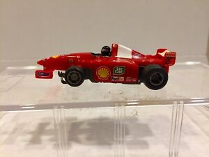 Tyco 440 X2 slot car with Running Chassis #2 FERRARI F1 Formula One racing cars
