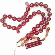 Turkish Amberoid Worry Beads SIKMA Kehribar Tesbih Prayer Tasbih Misbaha Eid 262