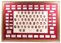 NBA 50 Greatest Players 1946-1996 45x65 Custom Framed Cut Display Signed Jordan