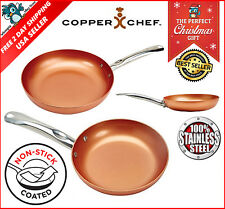 10 Copper Chef Round Frying Pan Nonstick Induction Fry Skillet Kitchen Cookware