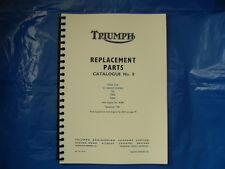 TRIUMPH TIGER CUB PARTS BOOK No8 T20,T20SS,T20SH FOR 1962 MODELS