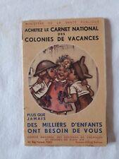 Ancien carnet de cartes postales Germaine Bouret
