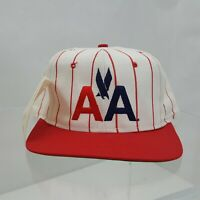 Vintage Snapback American Airlines Aviation Ball Cap Hat Marked Sample
