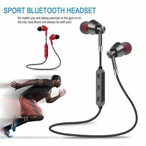 Wireless Bluetooth Earphones Headphones Sport Gym For iPhone Samsung, sweatproof