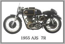 1955 AJS  7R - JUMBO FRIDGE MAGNET - VINTAGE CLASSIC MOTORCYCLE BIKE