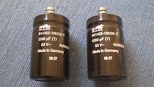 2 x S+M Elkos 2200µF/63V - Schraubverbindungen- NEU