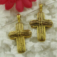 free ship 135 pieces gold plated cross pendant 30x17mm #1996