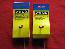 2 STIGA TABLE HOCKEY GAME RIGHT DEFENCE RODS SET !!!!!BRAND NEW!!!!