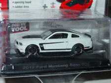 AUTO WORLD 2012 FORD MUSTANG BOSS 302 -White, CAR & DRIVER w/PLASTIC CASE