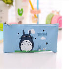 Cartoon Cat Totoro Canvas Pencil Pen Case Pouch Cosmetic Makeup Organizer Bag NN