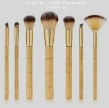 Eco-Friendly Vegan BAMBOO Makeup Brushes, Sustainable, Set Face Thread Concealer