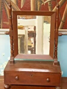 c.1800s Primitive English Mahogany Gentleman's Shaving Stand