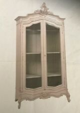 Beautiful White Armoire Wardrobe Display Cabinet French Louis Style Gl Doors
