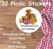 32 Teddy Bears Picnic Stickers Ideal For Schools, Picnic Parties, Party Bags etc