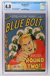 Blue Bolt #v2 #2 - Novelty Press 1941 CGC 4.0