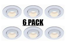 (6) Pk, Commercial Electric 4 in. White Recessed Eyeball Trim, T18