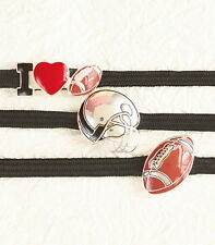 3 FOOTBALL Sport Elastic Head Band Set to keep Hair Back - One size fits most!