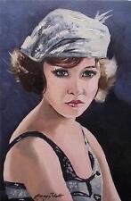 Dipinto originale olio su tela ritratto da Gregory Tillett: magnifico MOLL