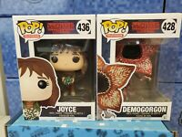Funko POP! TV - Stranger Things set  DEMOGORGON (Open Mouth) #428  & Joyce #436