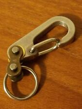 Stainless Steel, Mini Carabiner, Snap Spring Hook Clip, EDC Keychain, Key Ring