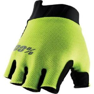100% Exceeda Fingerless Gloves for BMX Mountain Bike Bicycle Riding -Men's Sizes
