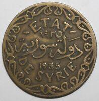 Syrian 5 Piastres Coin 1935 KM# 70 Syria Five Qirsh Etat de Syrie