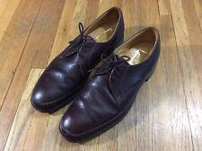 Vintage Stuart McGuire Red Brown Leather Lace Up Oxfords Dress Shoes Mens